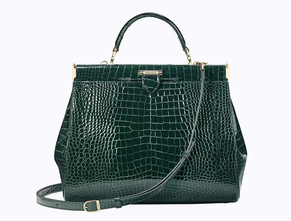 The Florence Frame bag, here in green croc, is one of Mariya Dykalo's favourites from the collection