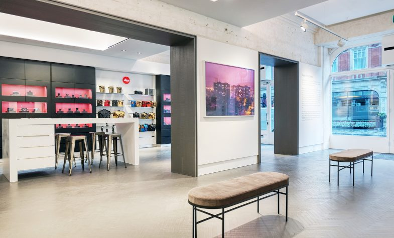 The interior of the new Leica Store Mayfair