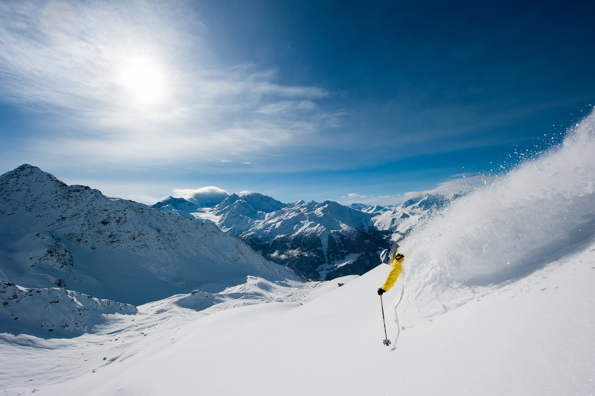 Skiing in Verbier