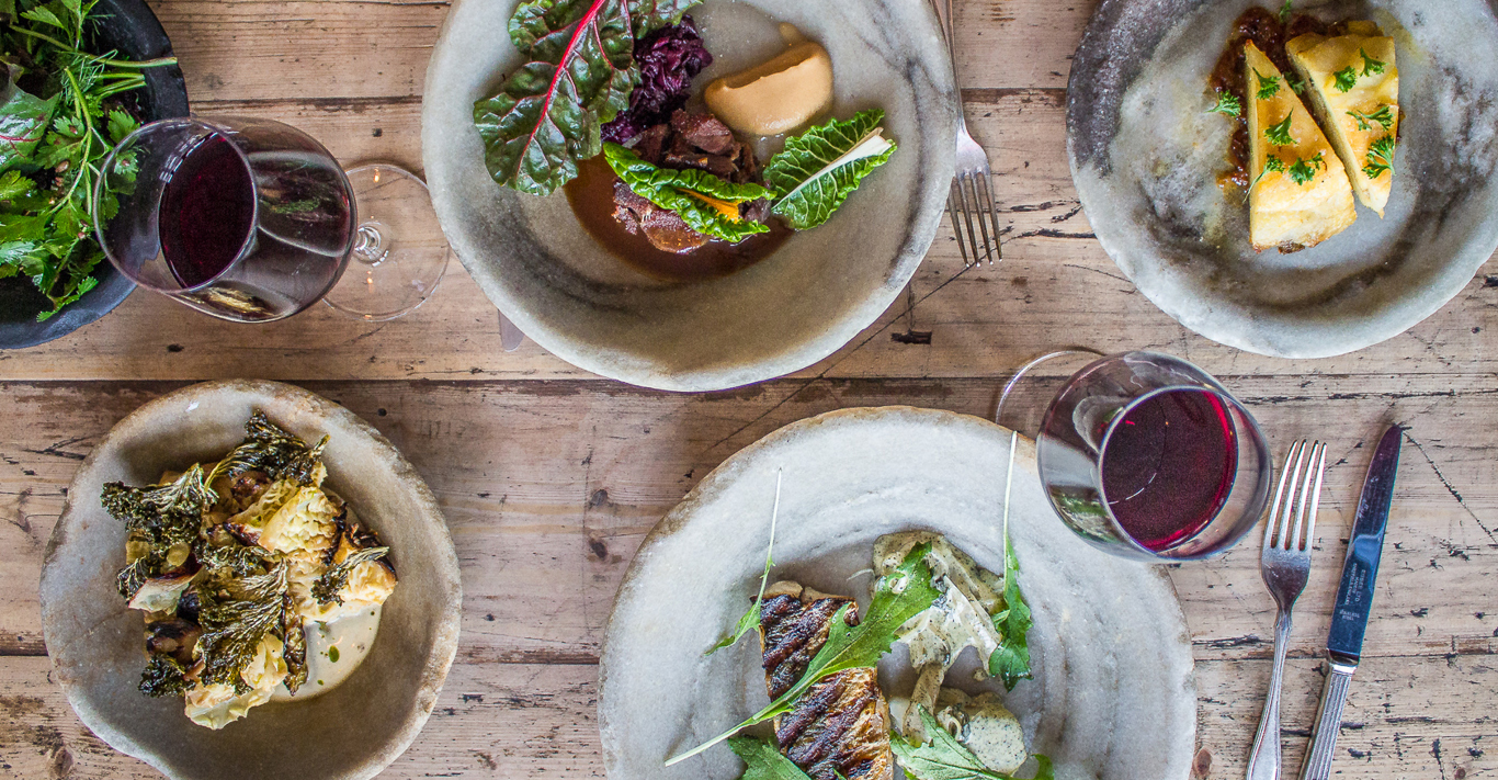 A selection of dishes made from seasonal produce at Robin Gill's The Dairy