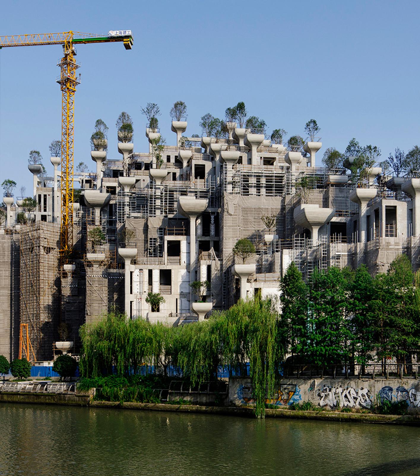Heatherwick Studios' 1000 Trees complex in Shanghai
