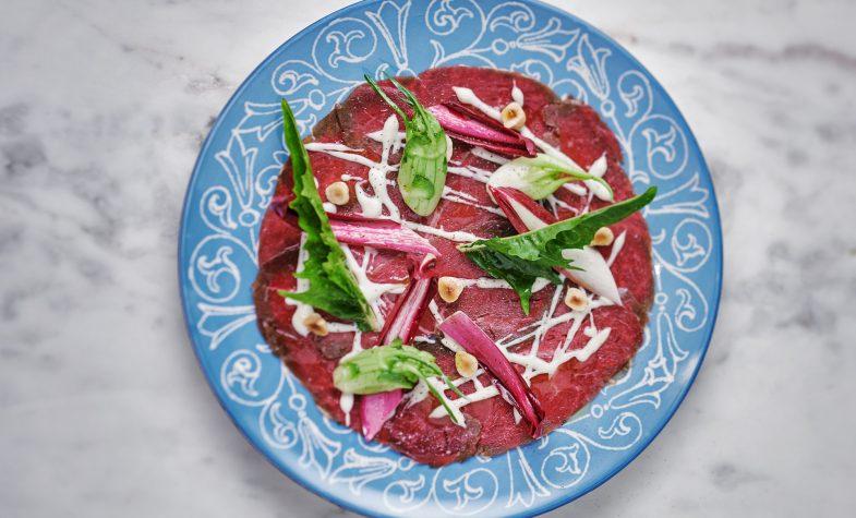 Beef carpaccio at A.O.K Kitchen & Bakery