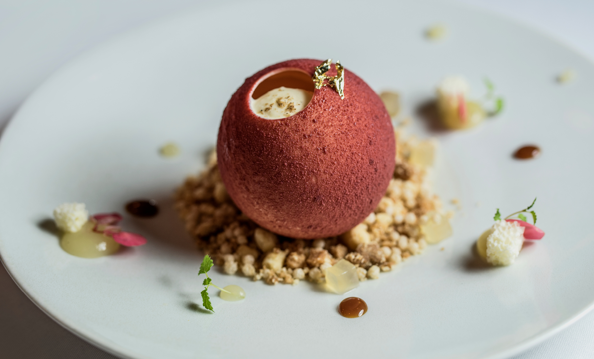 Apple crumble at Ormer