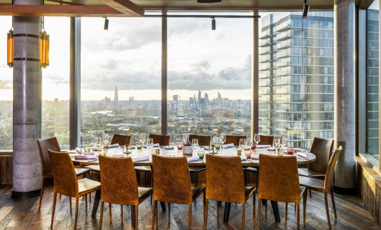 Bokan has striking views across Canary Wharf