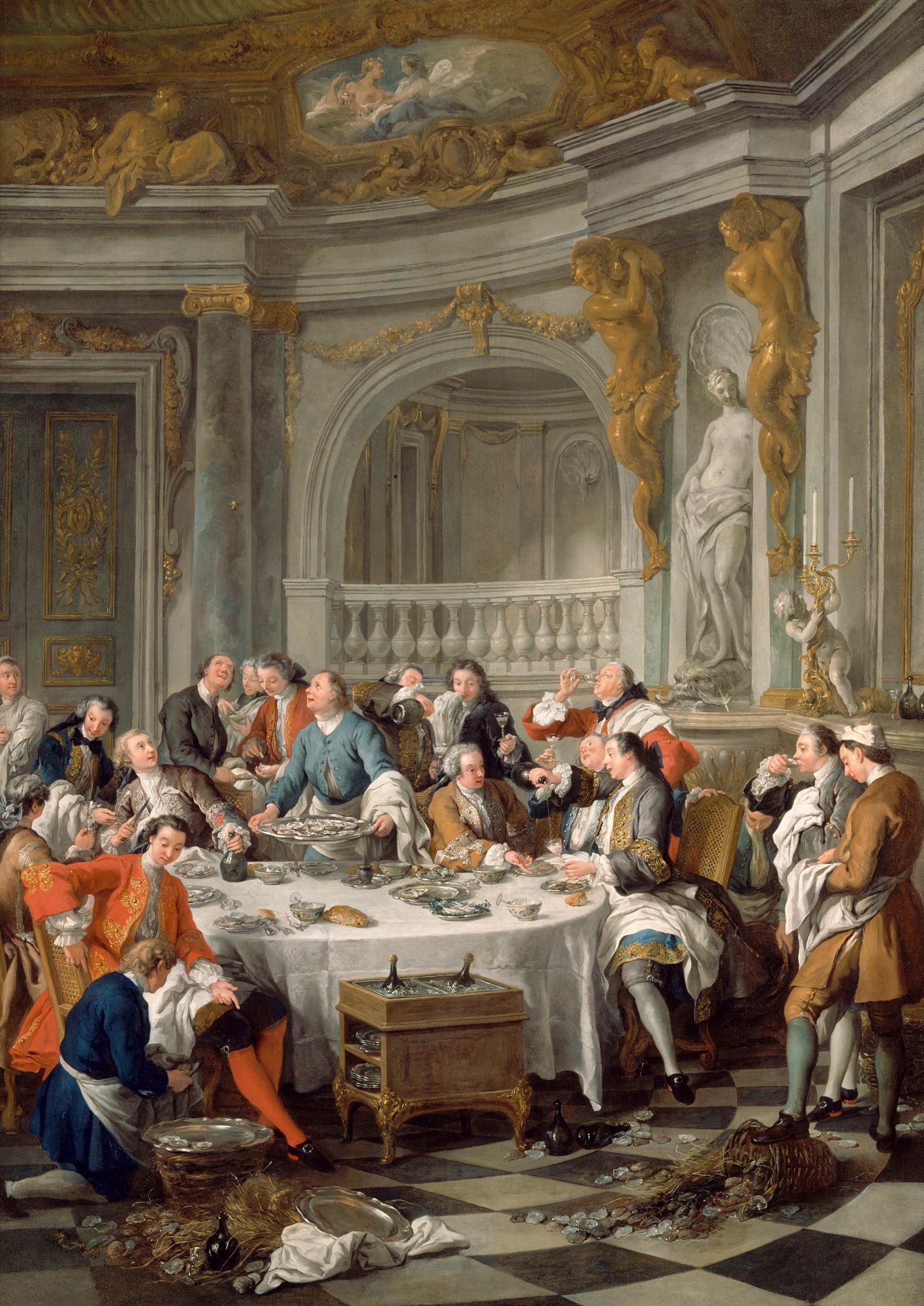 The Hotel has an 18th-century dining concept. Le Déjeuner d'Huîtres» (The Oyster Lunch), by Jean-François de Troy 1735, Musée Condé (Chantilly, France), (C) RMN / Harry Bréjat
