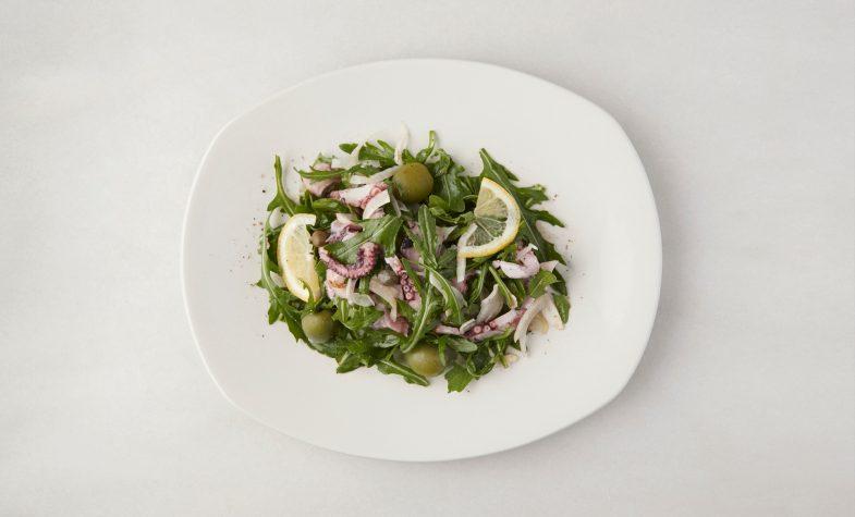 Octopus salad at 'O ver