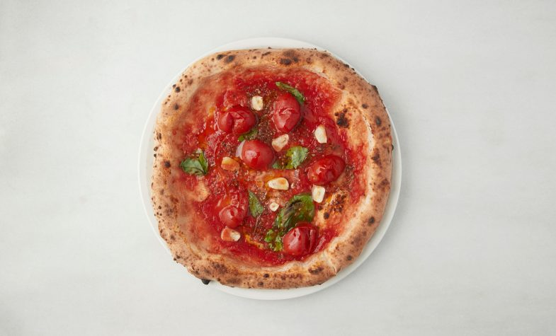 Pizzas with sea water dough are the main attraction at 'O ver St James's