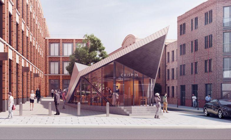 Crispin's interestingly angular pavilion