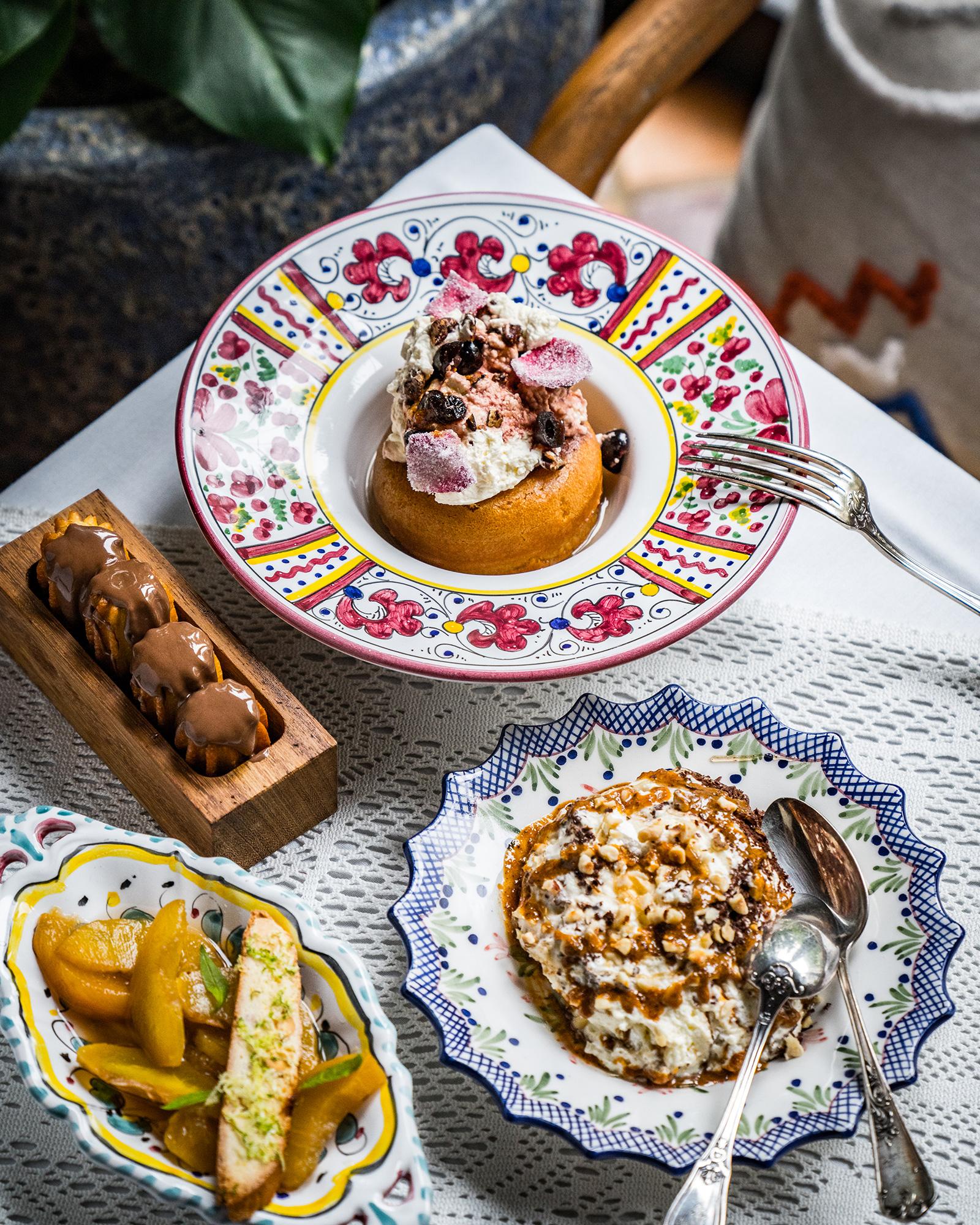 A selection of indulgent desserts at Circolo Popolare
