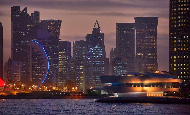 Nobu Doha at night