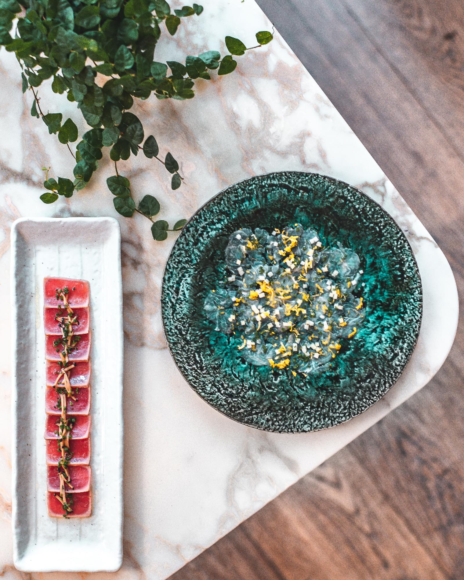 Yellowfin Tuna Carpaccio at Bloomsbury Street Kitchen