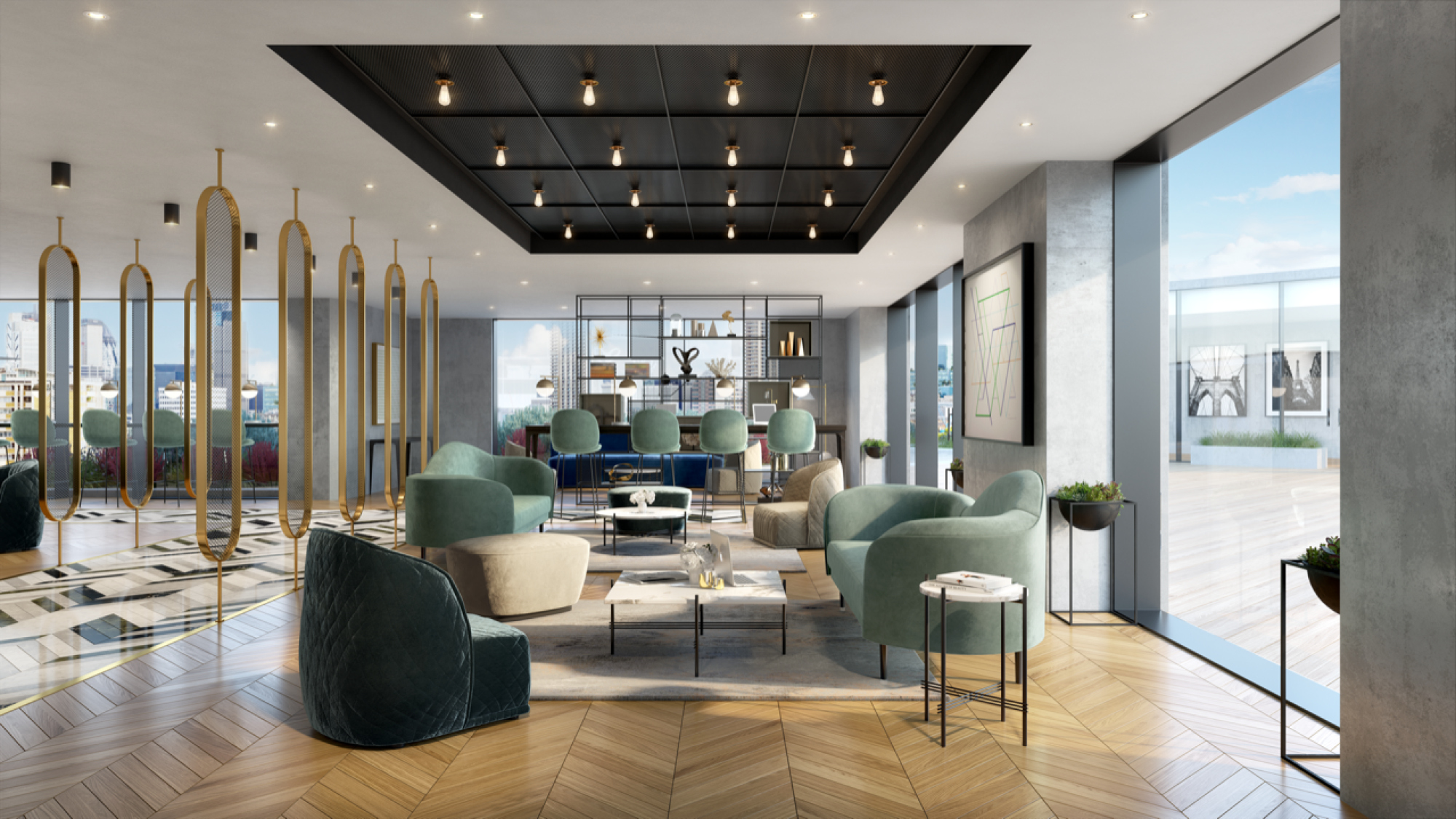 Business Lounge, 250 City Road, Valencia Tower, Berkeley Homes