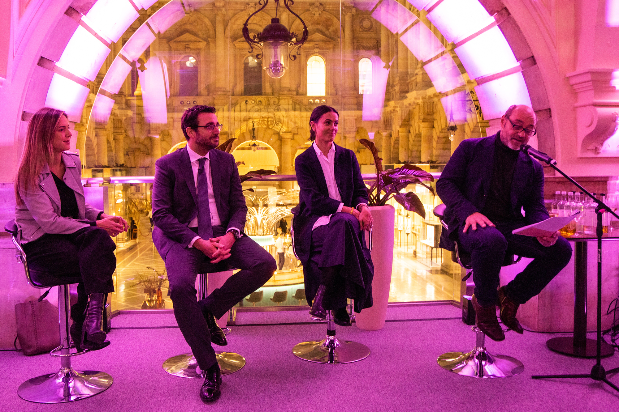 SHOW CEO Peter Howarth with Amanda Motta, head of brand and creative for heritage jewellery house Boodles; Andrea Nunziata managing director and Omega brand director at The Swatch Group (UK); and Zia Zareem-Slade, customer experience director at Fortnum & Mason