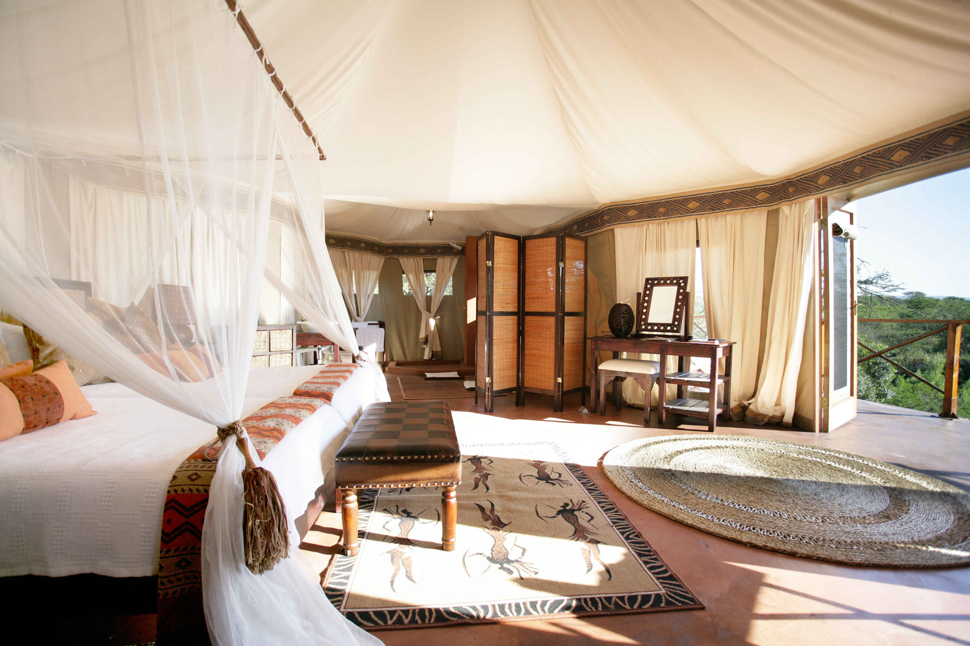The tented camp at Thula Thula