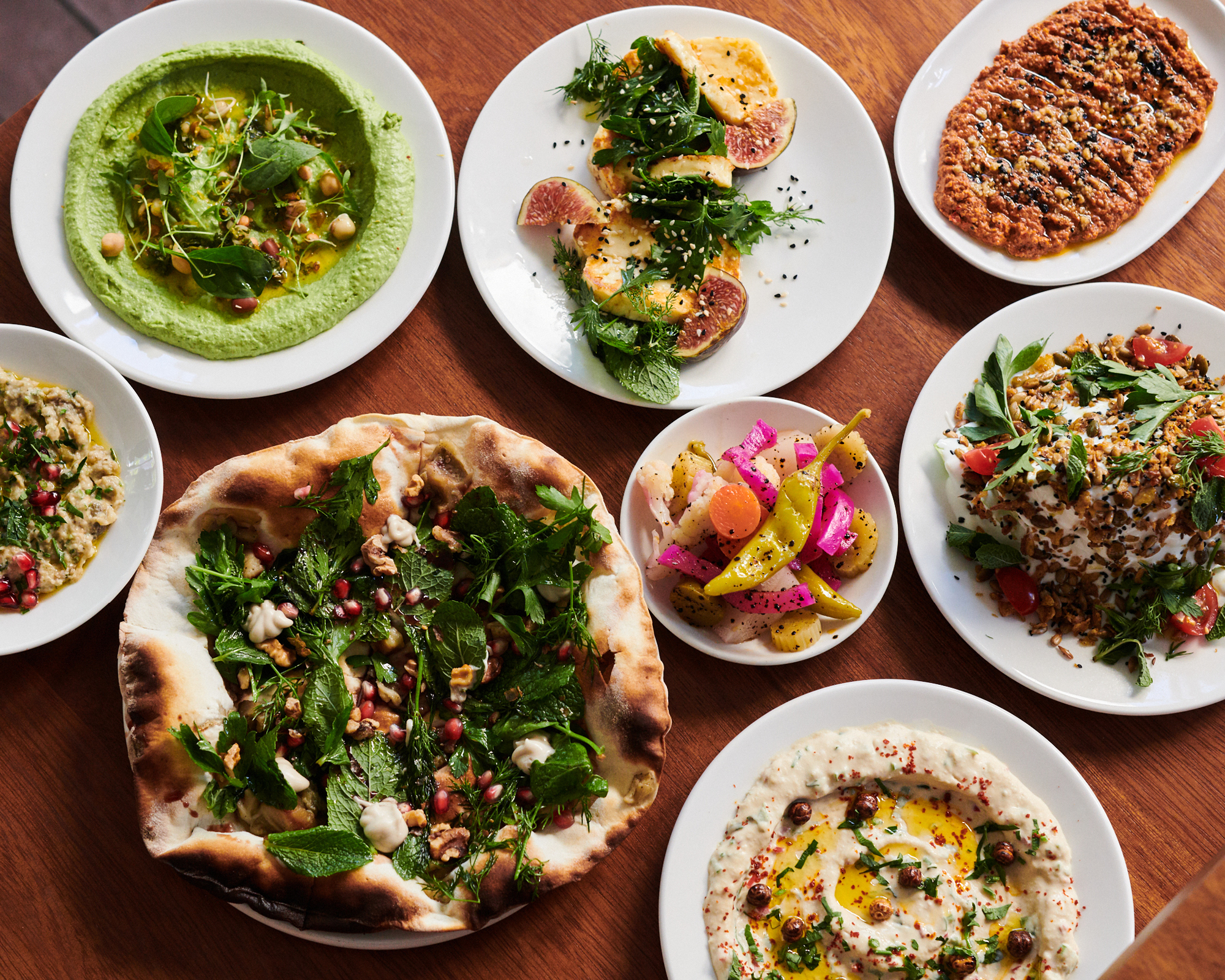 A selection of Levantine delights at Arabica KX