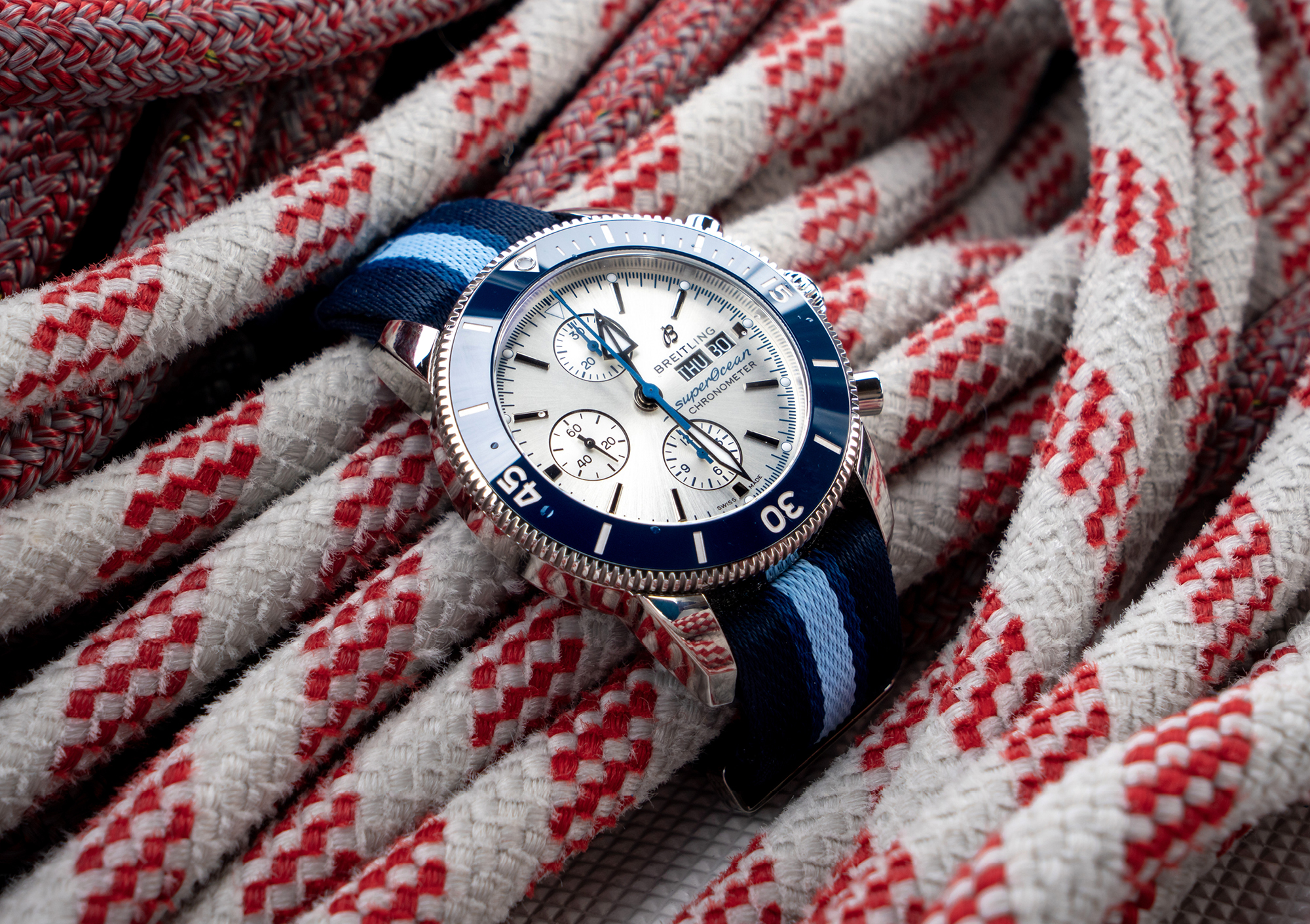 Breitling's Superocean Heritage Ocean Conservancy Limited Edition watch was created in partnership with environmental advocacy group, Ocean Conservancy