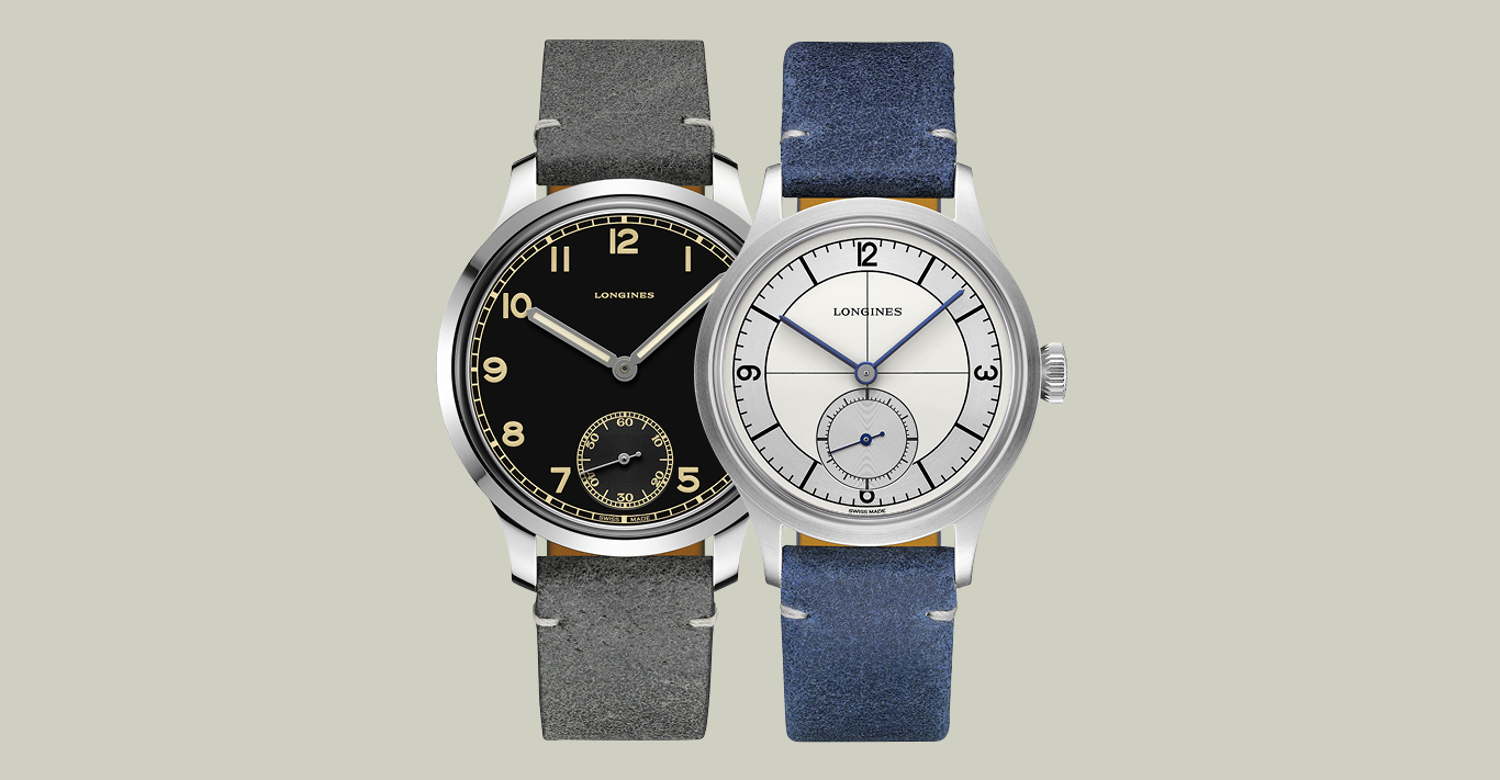 The Longines Heritage Military 1938 (left £2,020) and Classic (right, £1,760) are still faithful to the vintage models that inspired them