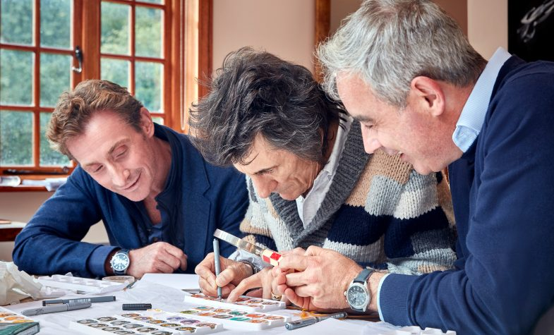 Ronnie Wood with Bremont Brothers