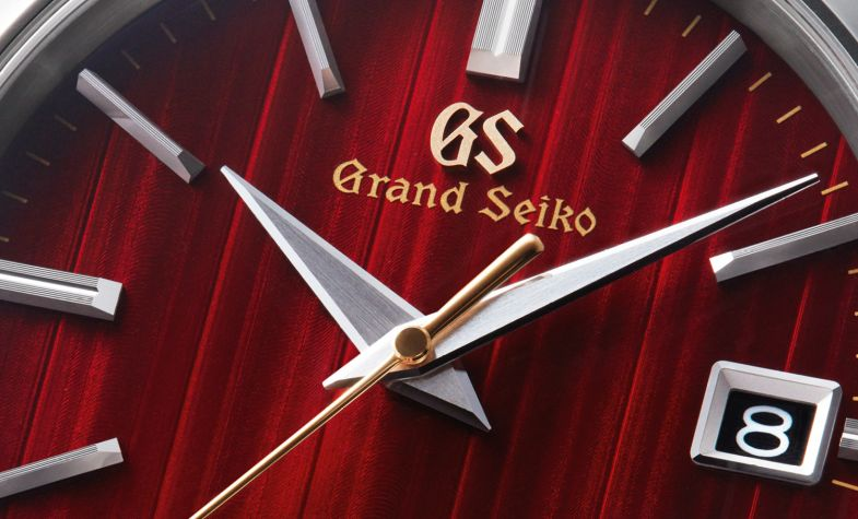 Expressing the scenery of autumn in Japan, the Limited Edition Grand Seiko Heritage incorporates 37 jewels and a date display on the dial and a serial number engraved on the case back. £6,000, GRAND SEIKO