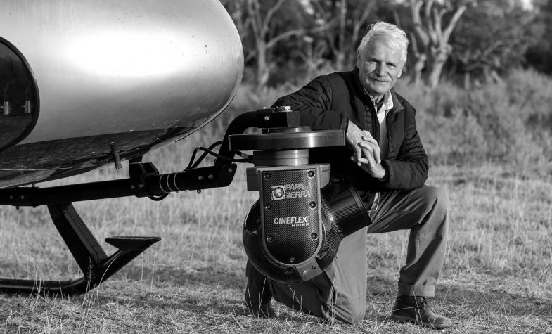 Photojournalist Yann Arthus-Bertrand, founder of the Good Planet Foundation, which has partnered with Omega