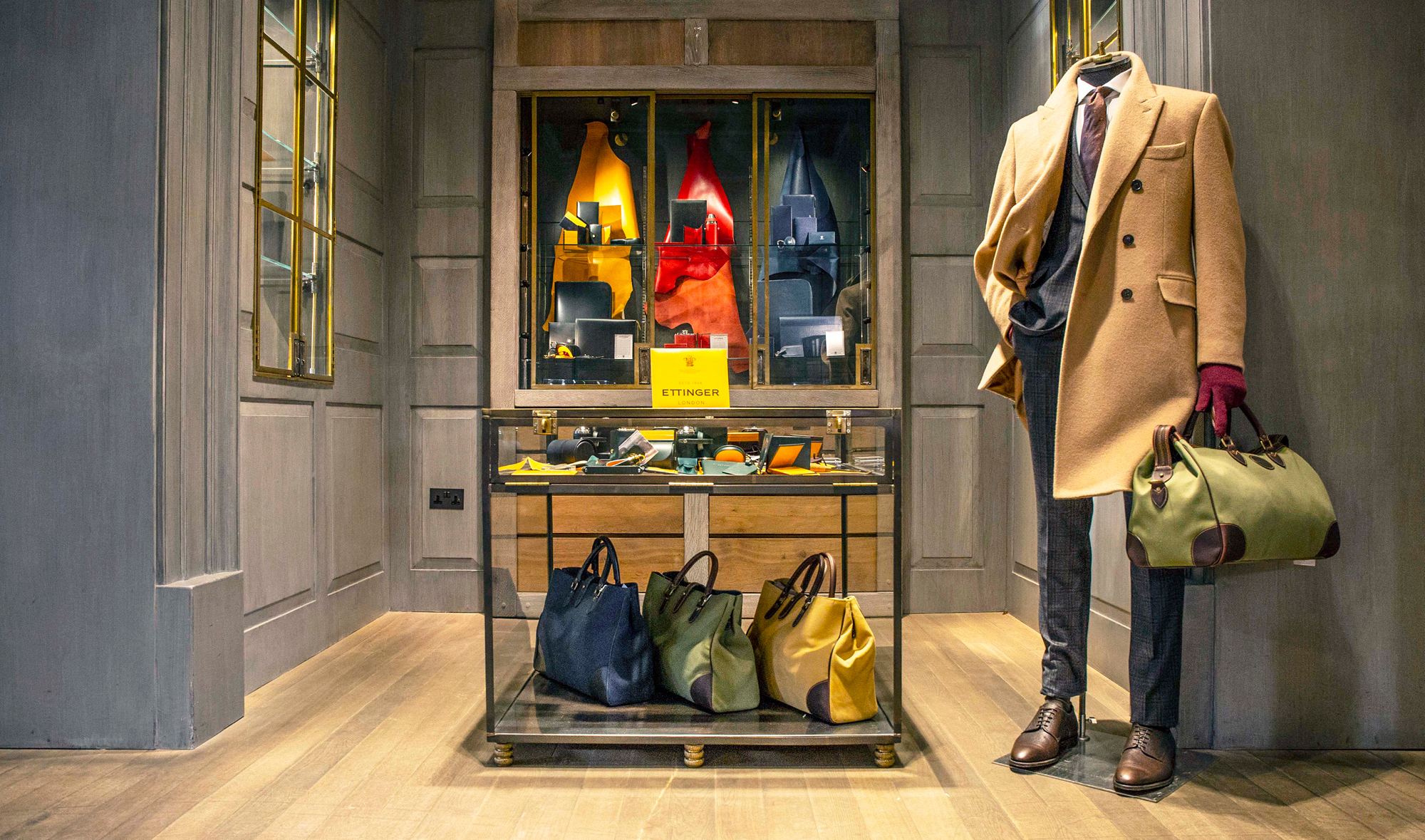 Ettinger Accessories Room at Gieves & Hawkes' flagship store at No.1 Savile Row