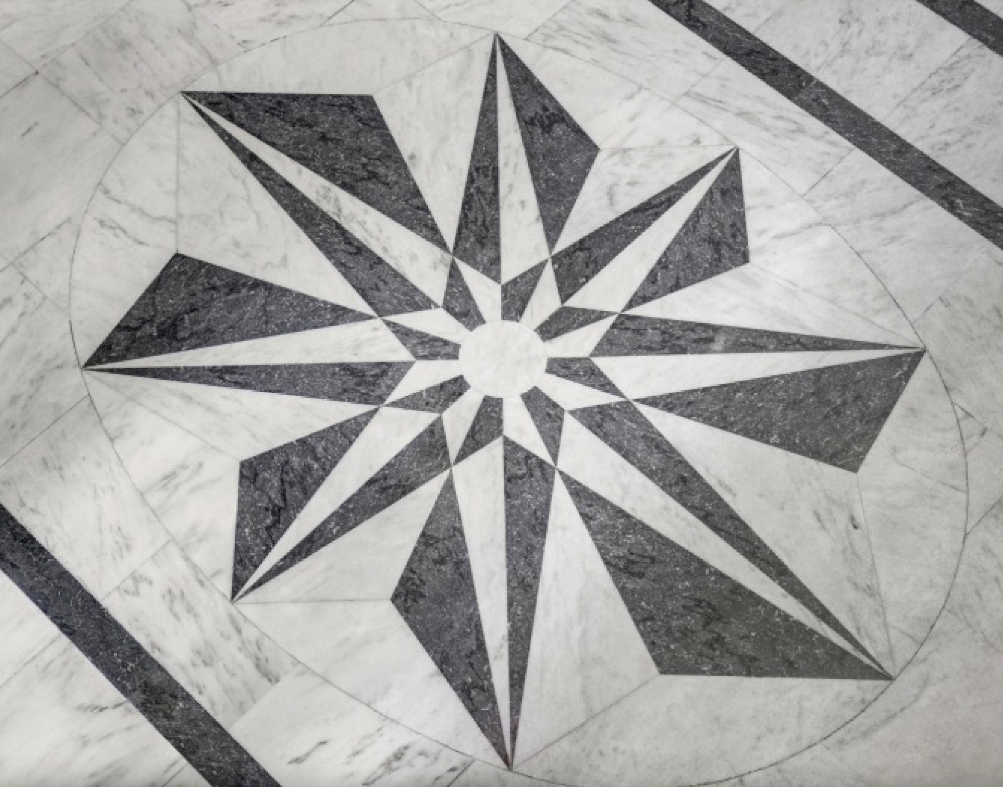 The marble of Harry Winston's Fifth Avenue salon inspired part of the collection