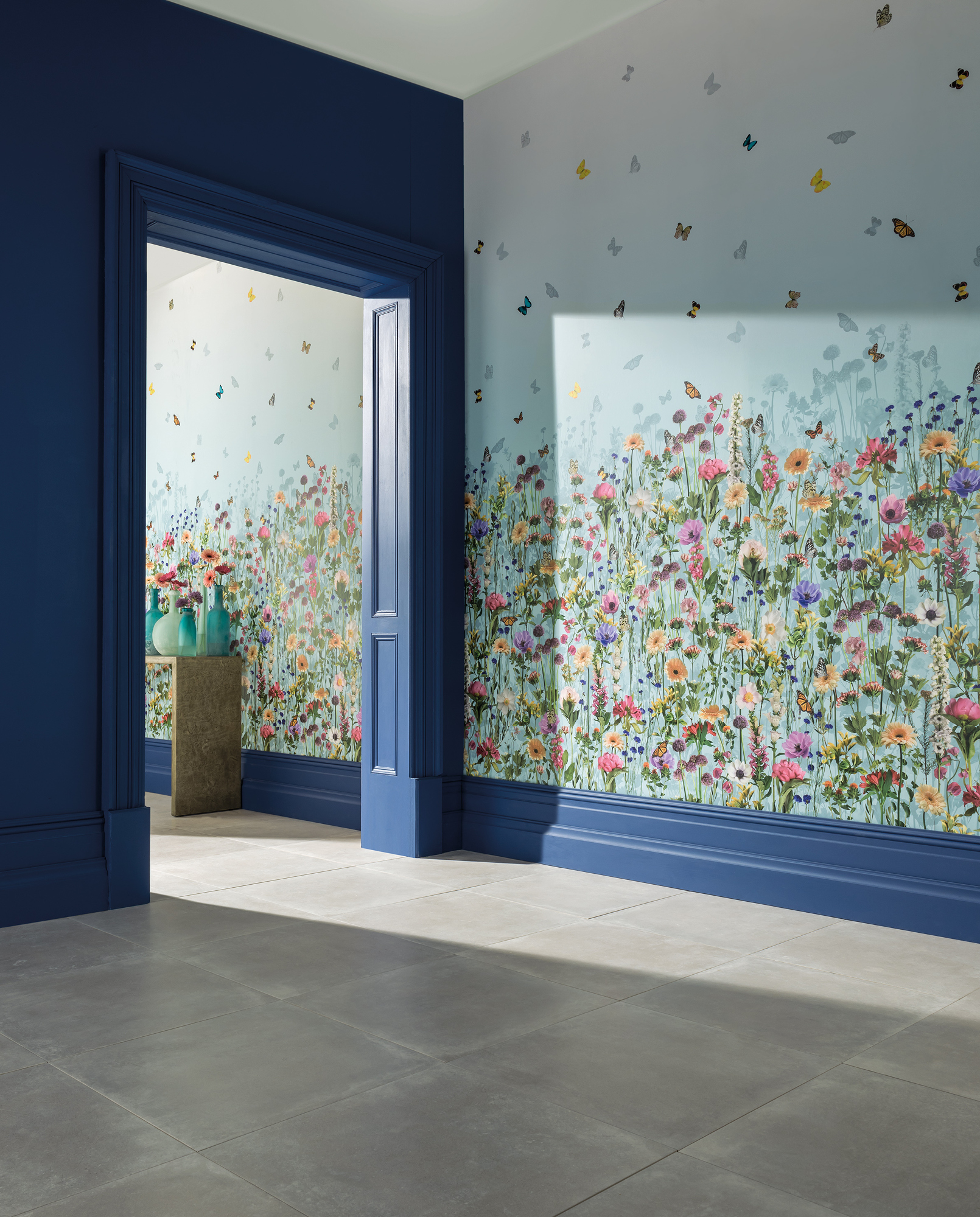 Matthew Williamson has collaborated with Osborne & Little on bold floral and nature-inspired prints in the Belvoir wallpaper collection.