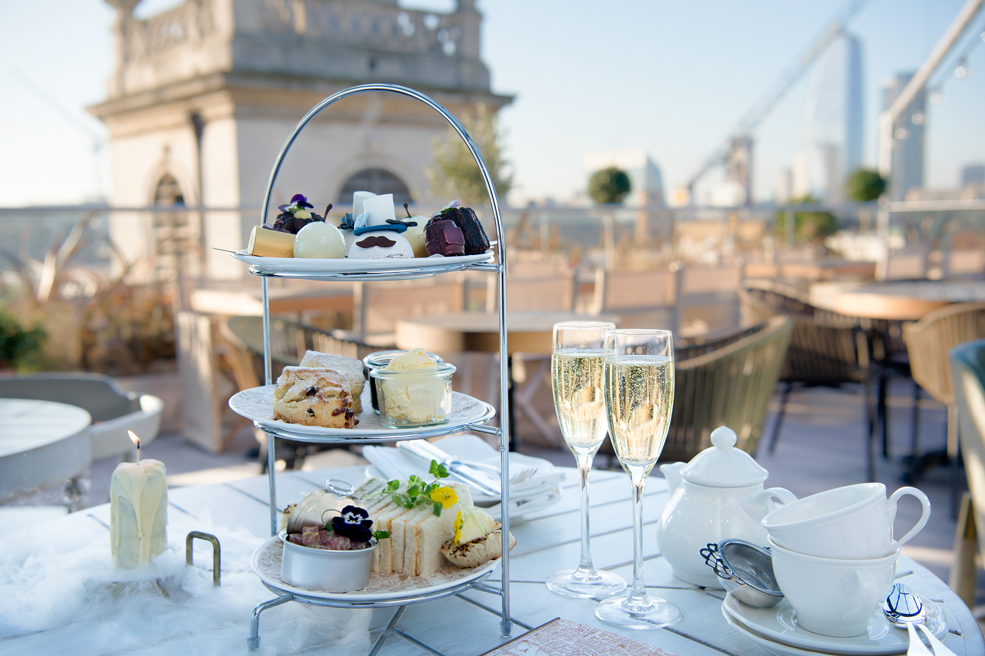 The Guilds of the City Afternoon Tea at the Mercer Roof Terrace at the Vintry & Mercer hotel. Image: Amy-Murrell