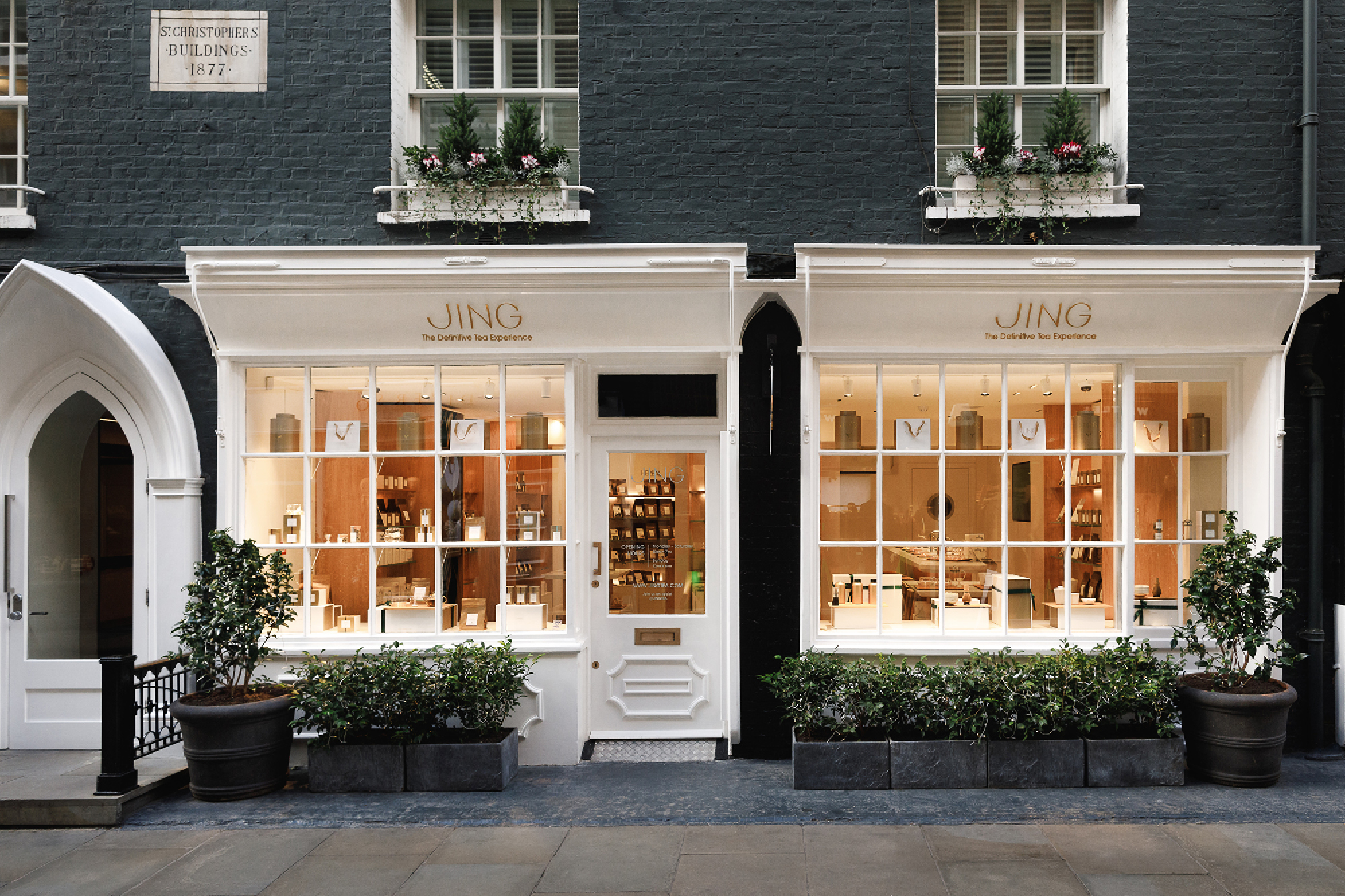 The Jing Tea boutique at St Christopher's Place, London