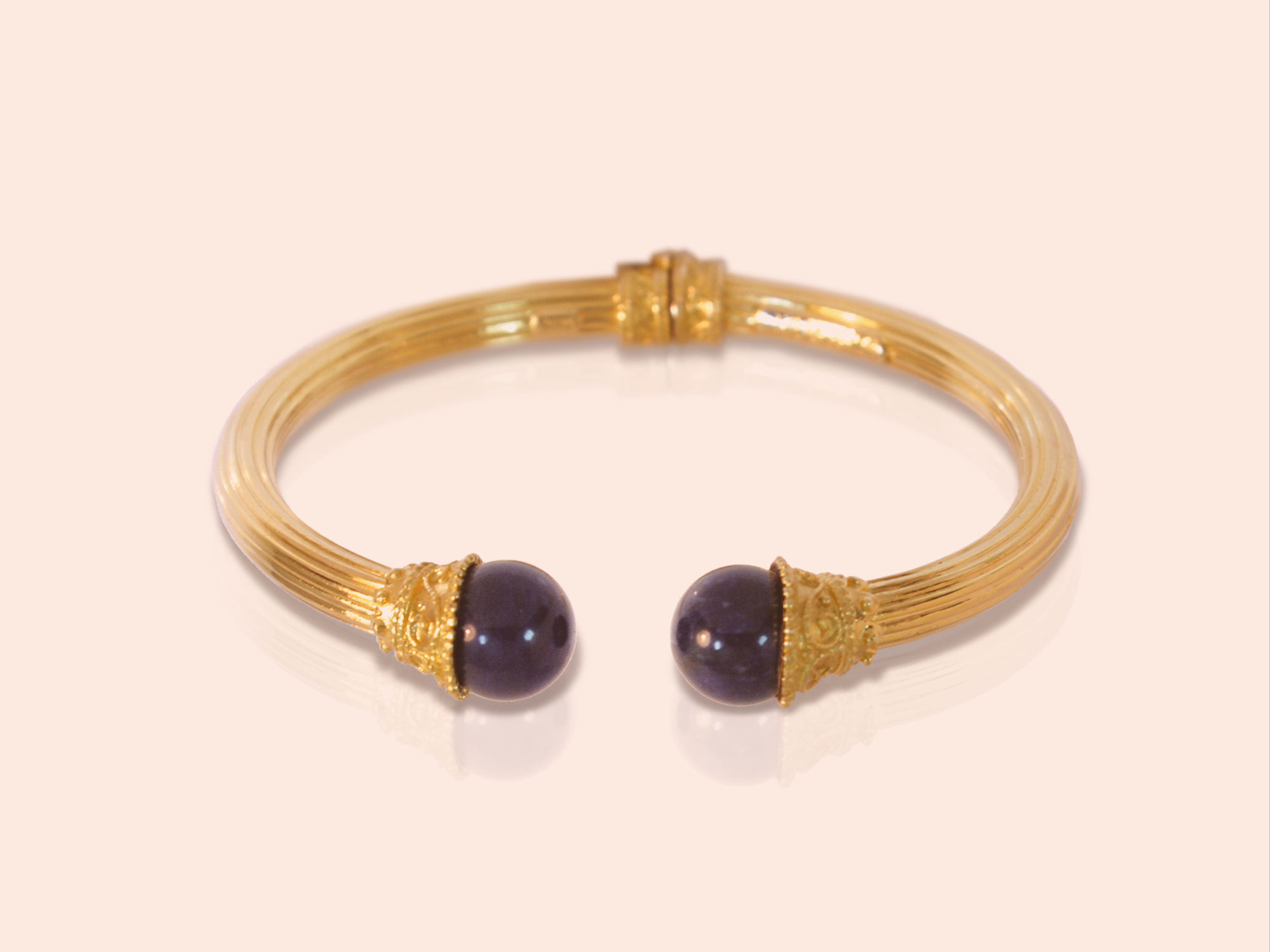 Lalaounis Classical and Hellenistic collection bracelet in 18K gold and semi precious stones
