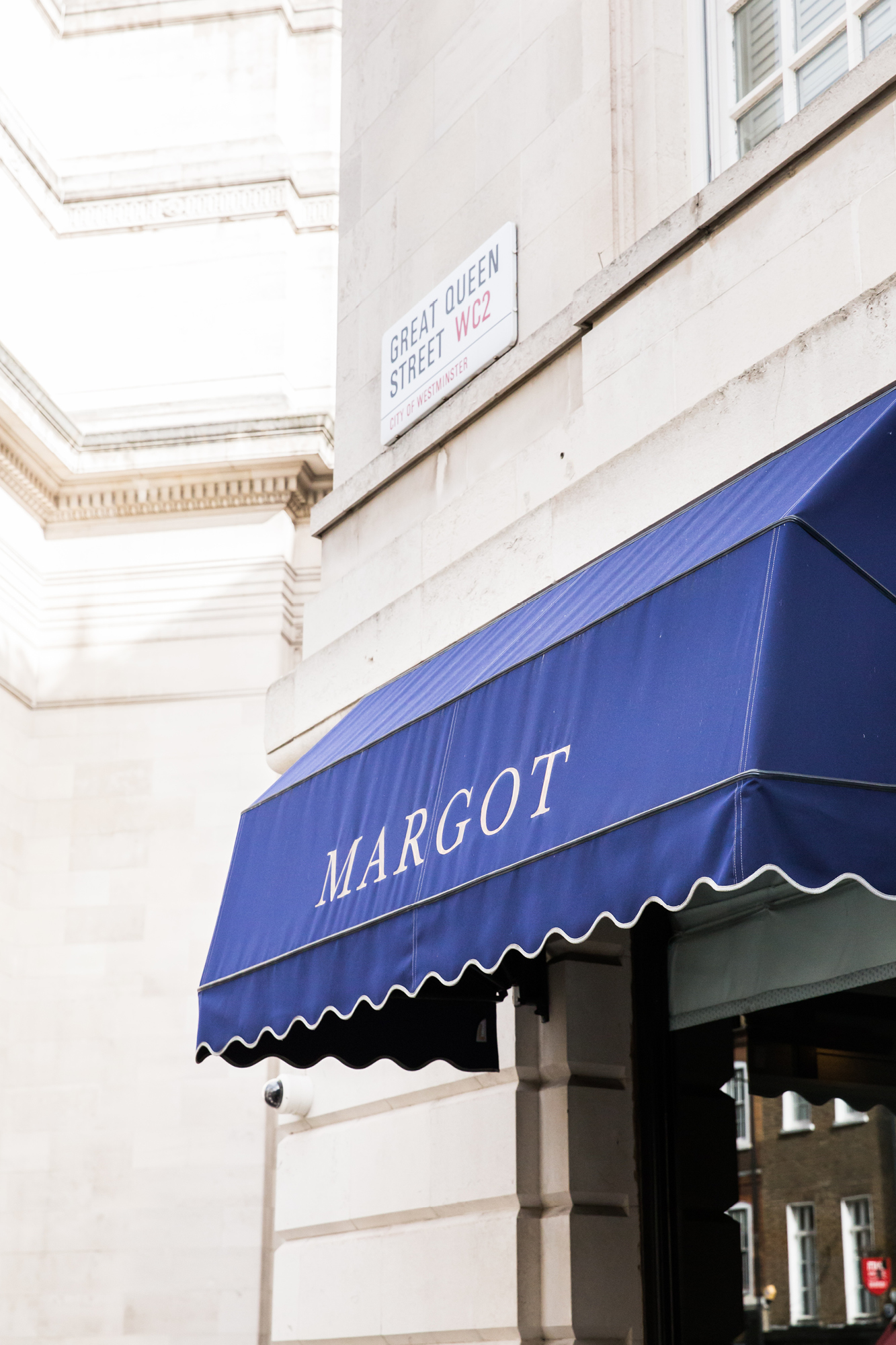 Margot restaurant in Covent Garden
