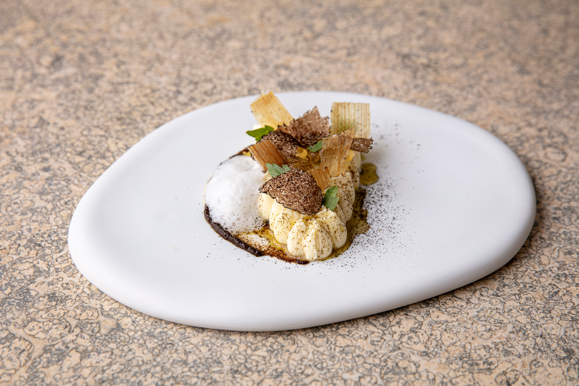 Just Down The Road - milk, honey, truffle; photography by Thomas Alexander