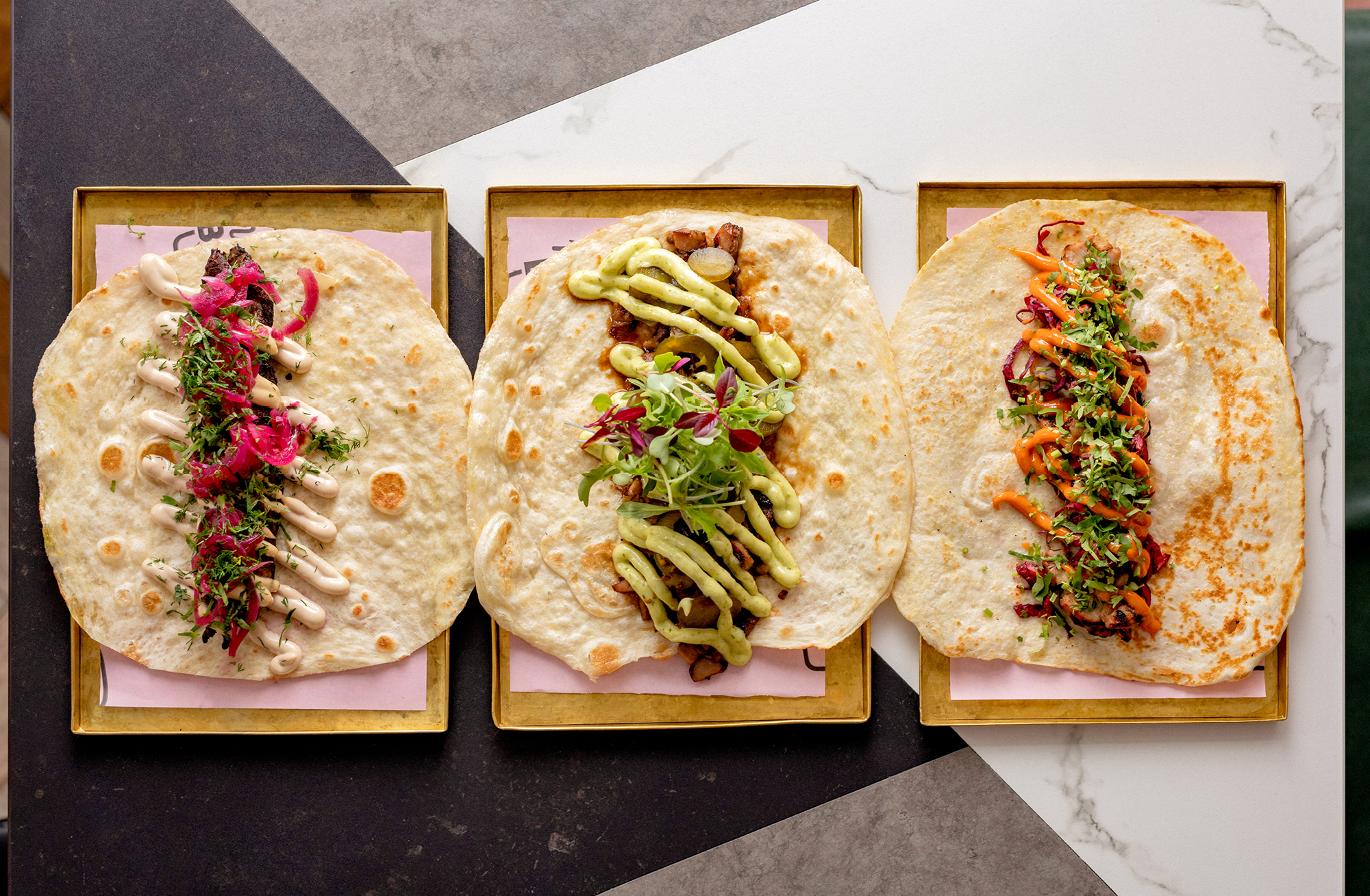 Maison Bab offers a selection of tastefully contemporary shawarma