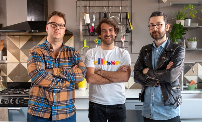 From left to right: Tim Anderson, founder of Nanban; Anton Soulier, Founder of Taster; John Chantarasak, Head Chef of AngloThai