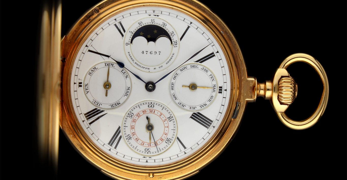 Daniel Somlo deals with high-end vintage watches including this Patek Philippe Perpetual vintage pocket watch
