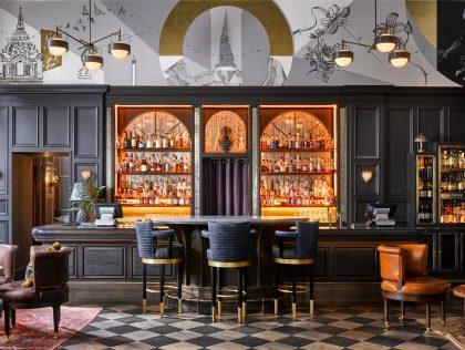 The bar at the new Kimpton Fitzroy London