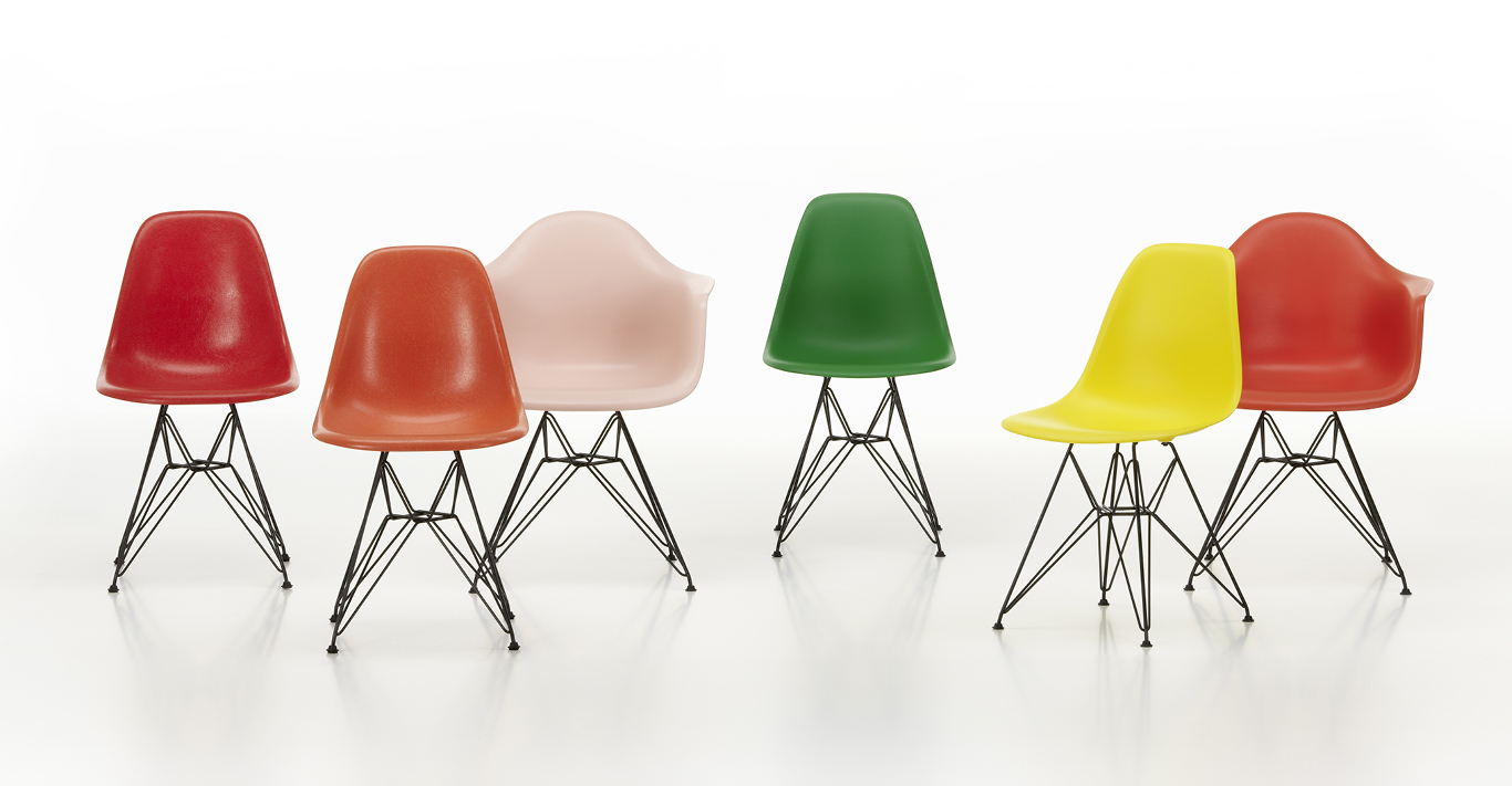 Eames Fibreglass Chairs are available in fibreglass once more