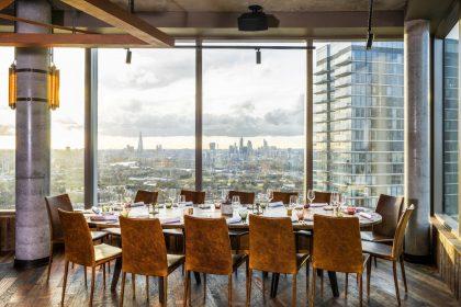 Bokan has striking views across Canary Wharf