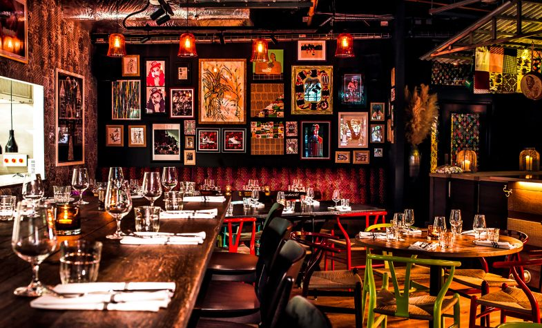The dining room at Red Rooster Shoreditch