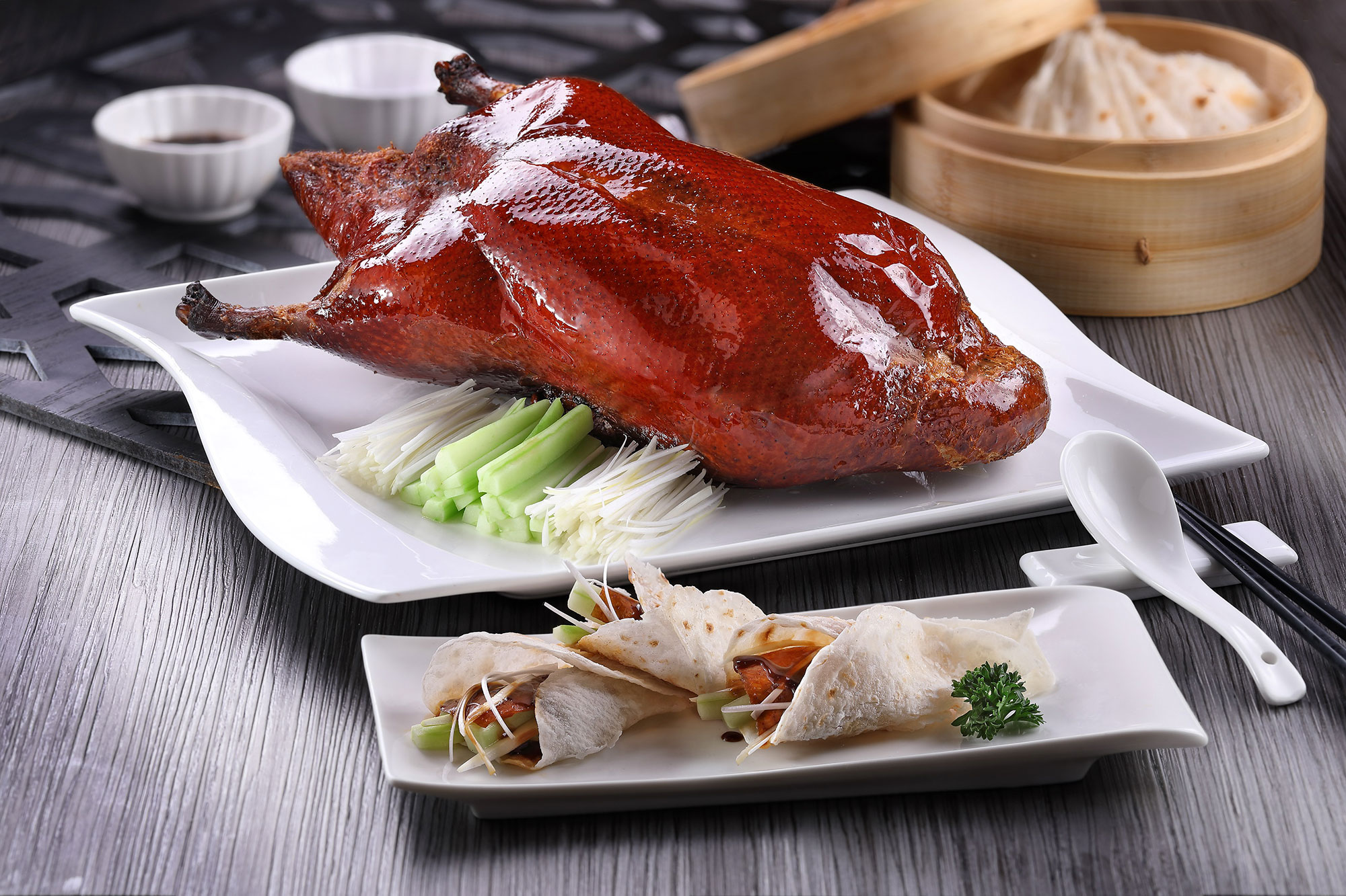 Peking duck at Imperial Treasure