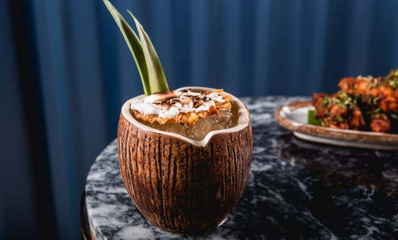 Coconut-inspired cocktail at Ooty Station