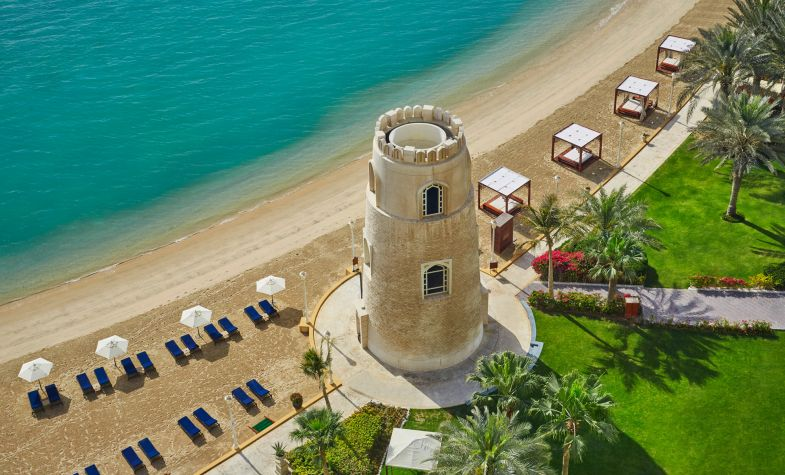 The beach at the Four Seasons Doha