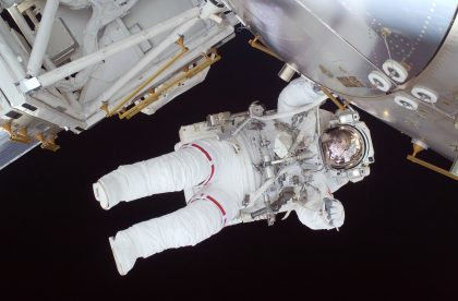 Nicole Stott at the International Space Station