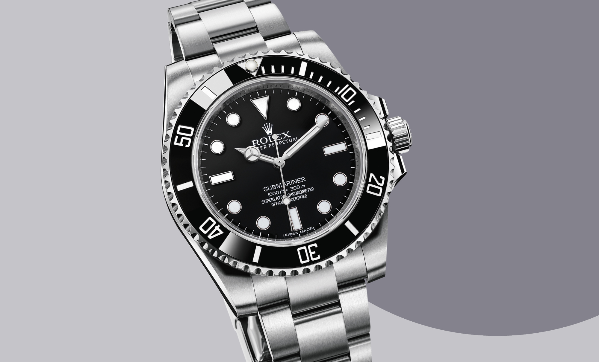 Submariner 40mm Oystersteel, £5,750