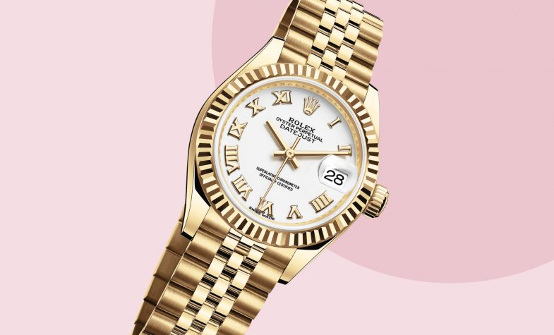 The Rolex Lady-Datejust comes in various iterations, including the yellow gold Lady-Datejust 28, £18,100