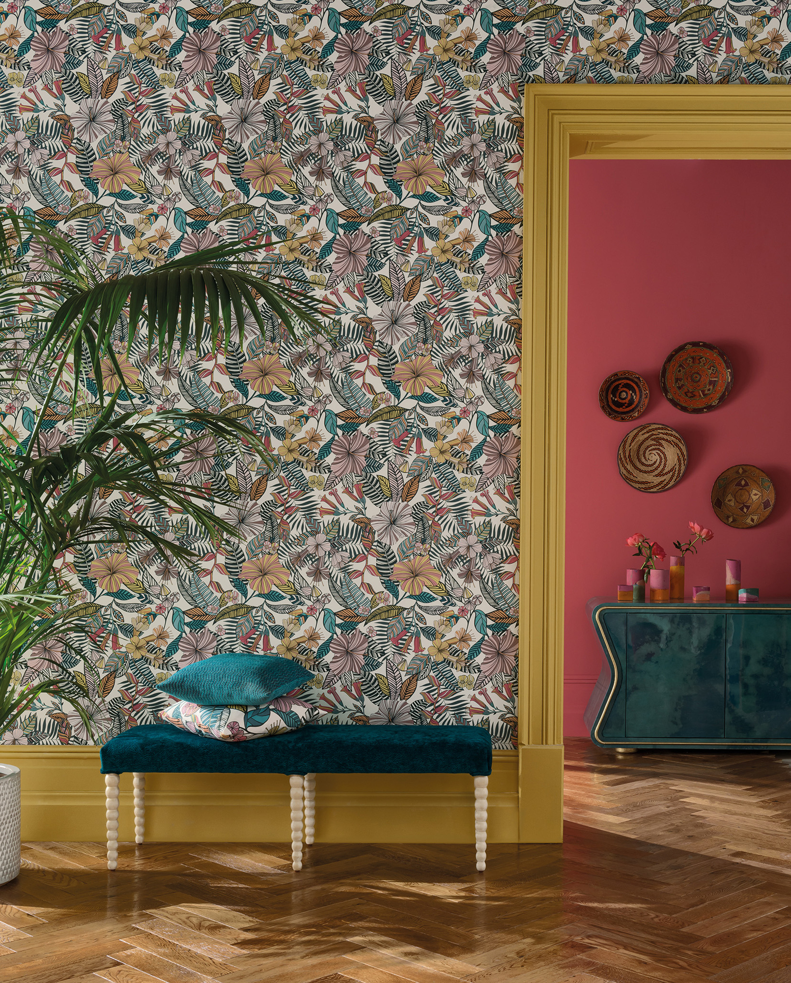 The Deya collection for Osborne & Little features wallpaper and fabrics