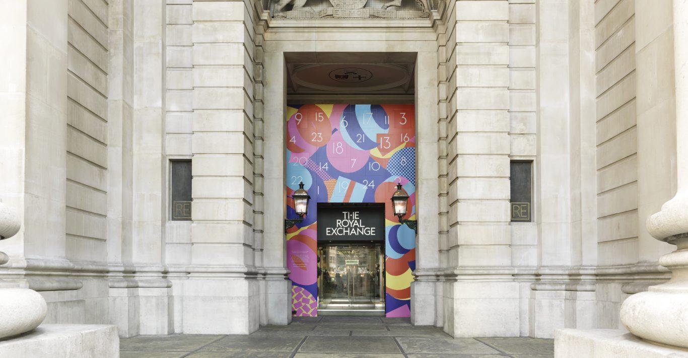 The Royal Exchange Advent Calendar Installation by Karan Singh.