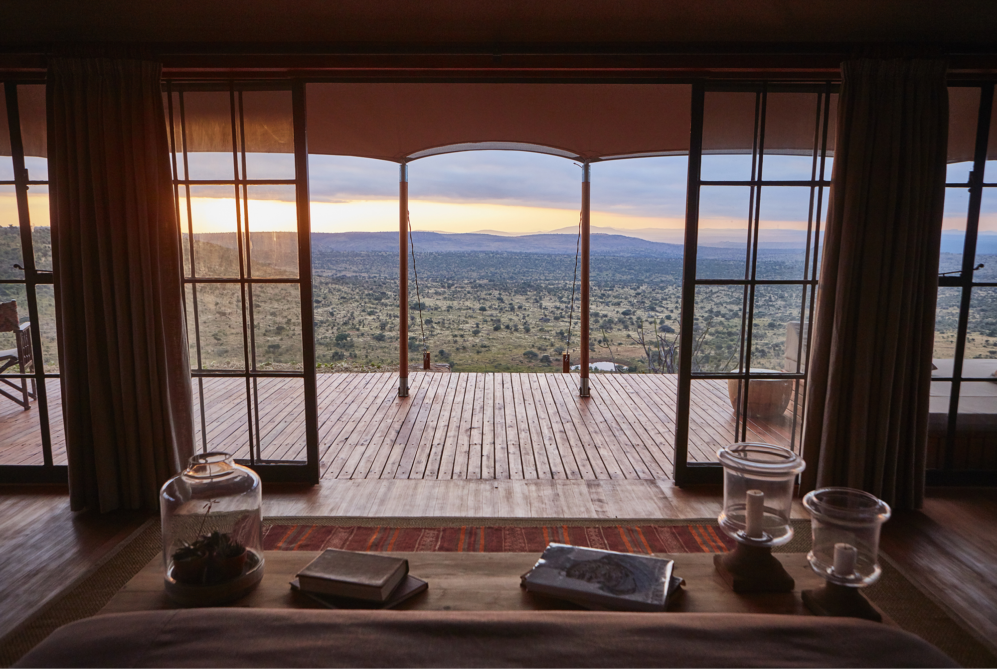 The view from a luxury tented room at Loisaba Lodo Springs