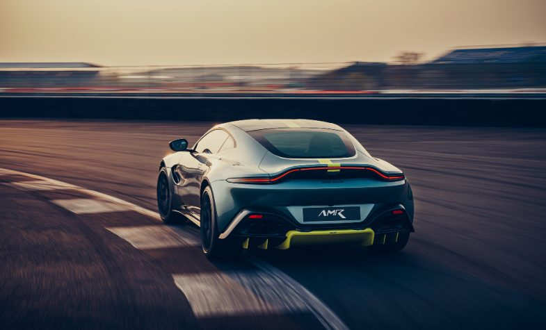 The Aston Martin Vantage AMR boasts a seven-speed manual transmission.