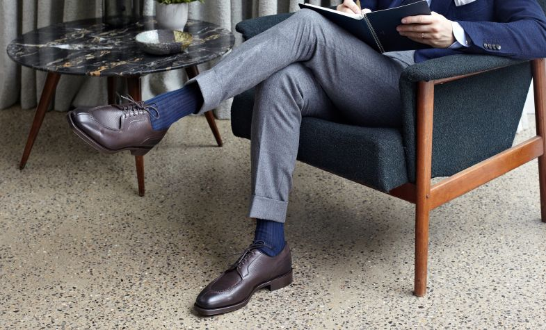 Dover textured-leather Derby Shoes